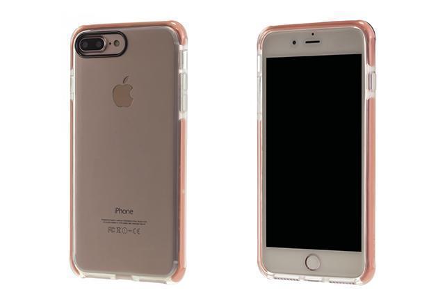 Чехол-накладка Rock Guard Series для Apple iPhone 7 Plus/8 Plus силикон-пластик (Trans-Pink)для iPhone 7 Plus/8 Plus<br>Чехол-накладка Rock Guard Series для Apple iPhone 7 Plus/8 Plus силикон-пластик (Trans-Pink)<br>