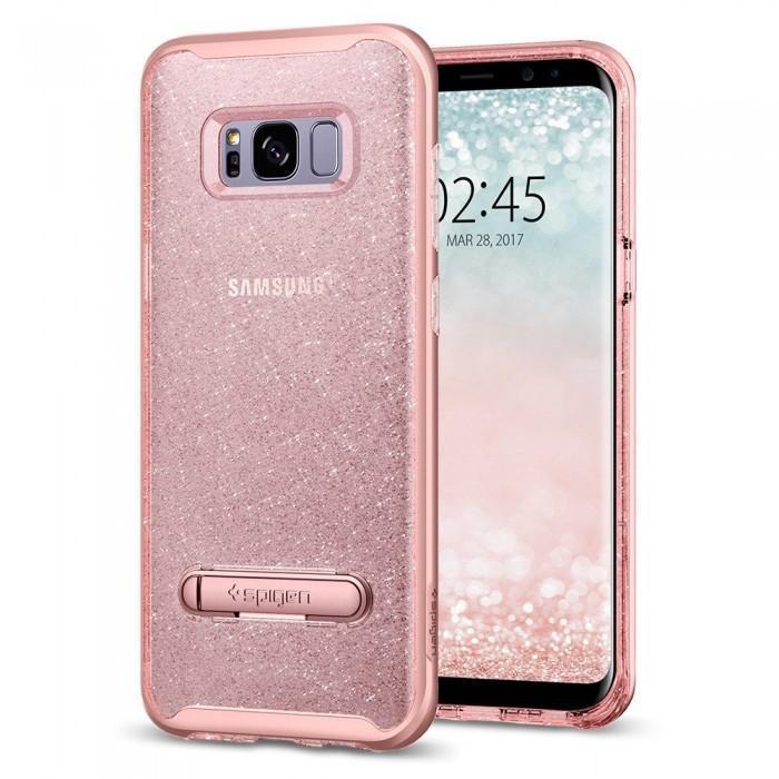 Чехол-накладка Spigen Crystal Hybrid Glitter для Samsung Galaxy S8+ rose кварц (SGP 571CS21285)для Samsung<br>Чехол-накладка Spigen Crystal Hybrid Glitter для Samsung Galaxy S8+ rose кварц (SGP 571CS21285)<br>