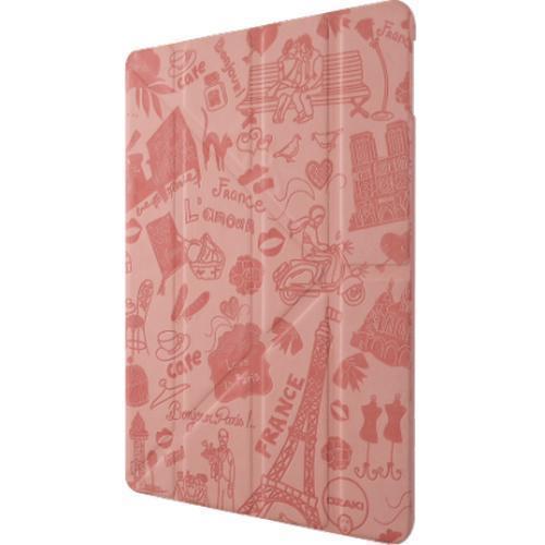 Чехол-книжка Ozaki O!coat Travel Paris для Apple iPad Air 2 (полиуретан с подставкой) Pink