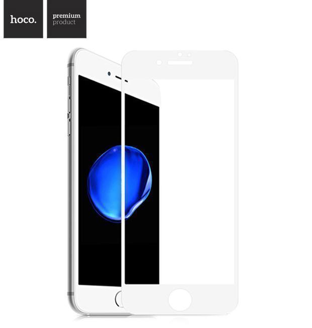Защитное стекло HOCO Real 3D Tempered Glass GH5 для Apple iPhone 7 Plus/8 Plus цветное белая рамкадля iPhone 7 Plus/8 Plus<br>Защитное стекло HOCO Real 3D Tempered Glass GH5 для Apple iPhone 7 Plus/8 Plus цветное белая рамка<br>