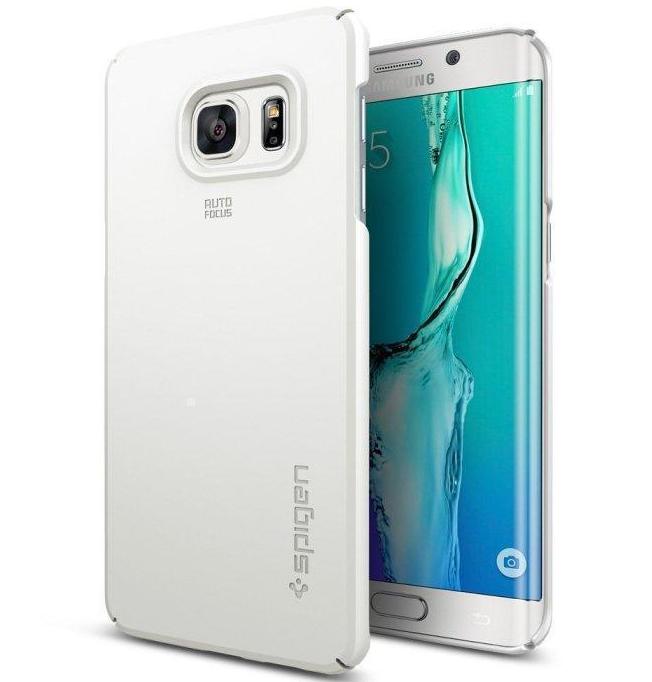 Купить Чехол-накладка Spigen SGP11697 Thin Fit для Samsung Galaxy S6 Edge Plus (White)