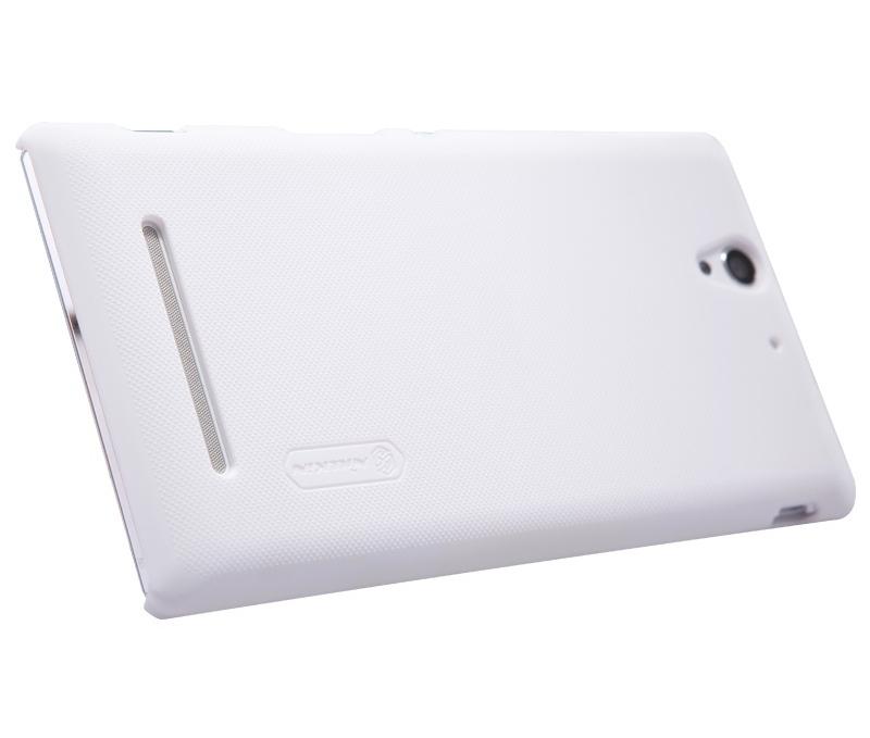 Чехол-накладка Nillkin Frosted Shield для Sony Xperia C3 / C3 Dual пластиковый белыйдля Sony<br>Чехол-накладка Nillkin Frosted Shield для Sony Xperia C3 / C3 Dual пластиковый белый<br>