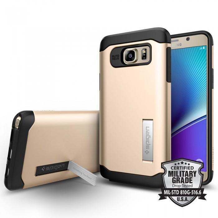 Чехол-накладка Spigen Slim Armor SGP11687 для Samsung Galaxy Note 5 резина, пластик (шампань)для Samsung<br>Чехол-накладка Spigen Slim Armor SGP11687 для Samsung Galaxy Note 5 резина, пластик (шампань)<br>