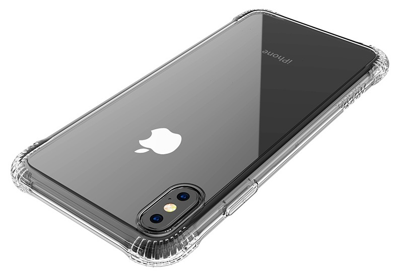 Купить Чехол-накладка Hoco Armor Series для Apple iPhone X/Xs силиконовый (прозрачный)