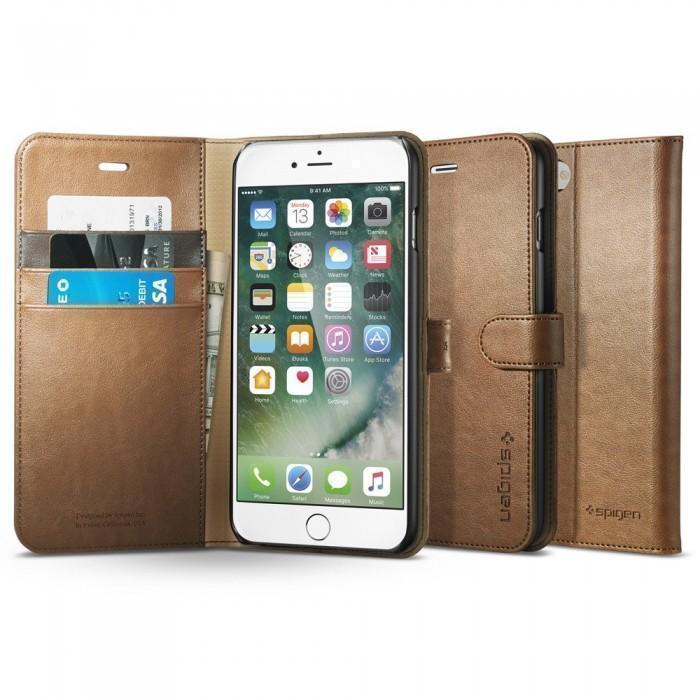 Чехол-книжка Spigen Wallet S для Apple iPhone 7 Plus натуральная кожа Brown (SGP 043CS20544)