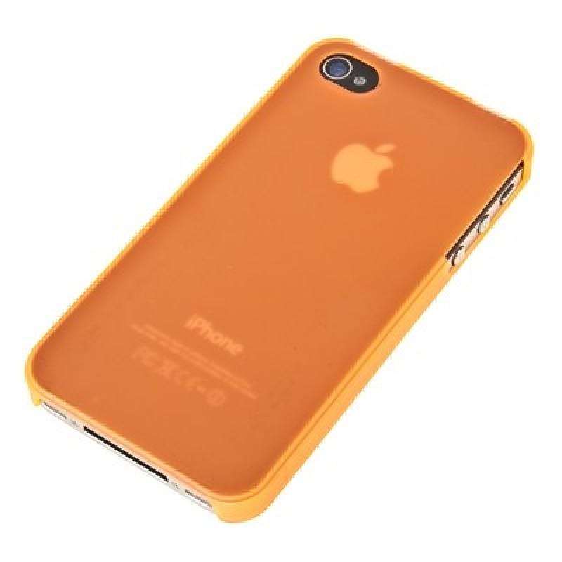 Чехол-накладка Xinbo 0.8mm для Apple iPhone 4/4S пластиковый (коричневый) фото
