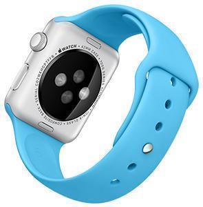 Ремешок силиконовый Rock Sport Band для Apple Watch Series 1/2 42мм blueРемешки и браслеты для умных часов Apple<br>Ремешок силиконовый Rock Sport Band для Apple Watch Series 1/2 42мм blue<br>