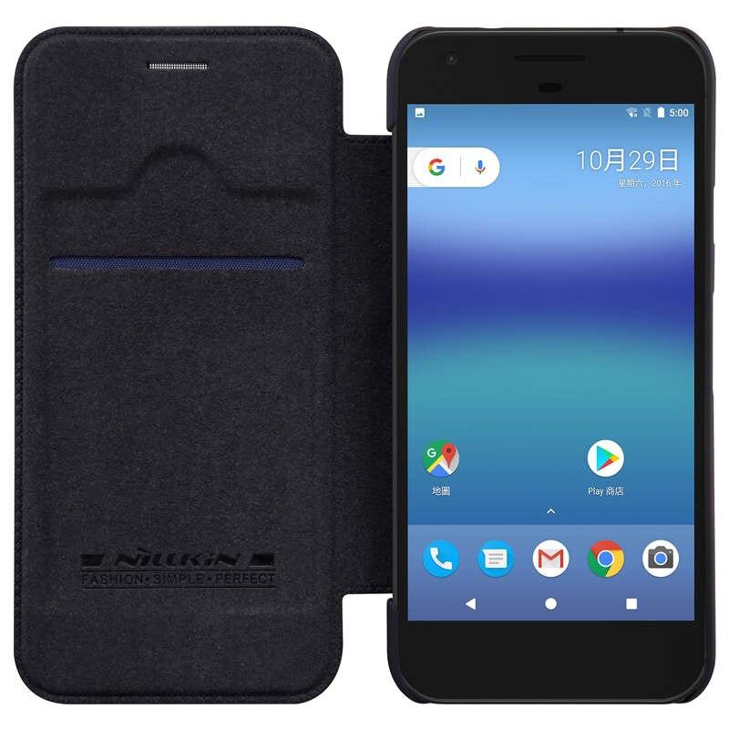 Купить Чехол-книжка Nillkin QIN Leather Case для Google Pixel XL (натуральная кожа (черный)