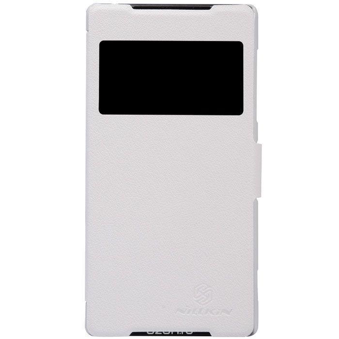 Чехол-книжка Nillkin Fresh Series для Sony Xperia Z2 натуральная кожа белыйдля Sony<br>Чехол-книжка Nillkin Fresh Series для Sony Xperia Z2 натуральная кожа белый<br>