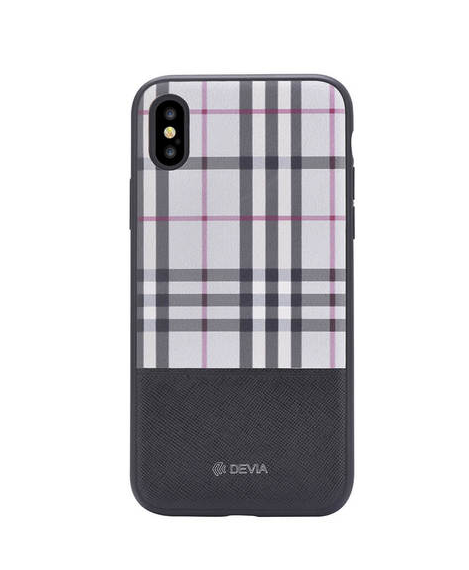 Купить Чехол-накладка Devia Lattice Case для Apple iPhone X/XS пластик-кожа Black