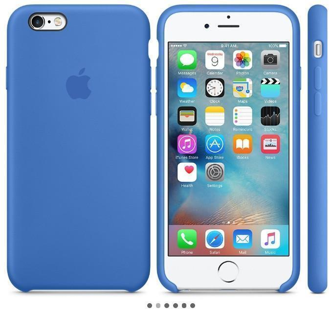 Купить со скидкой Чехол-накладка Apple Silicone Case для iPhone 6/6s силиконовый королевский синий