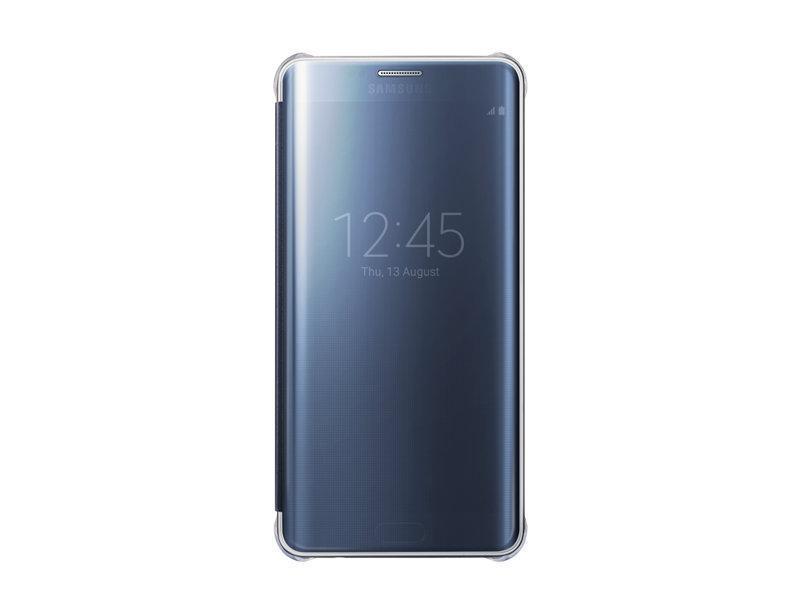 Чехол-книжка Samsung Clear View Cover для Galaxy S6 Edge Plus поликарбонат,полиуретан черный