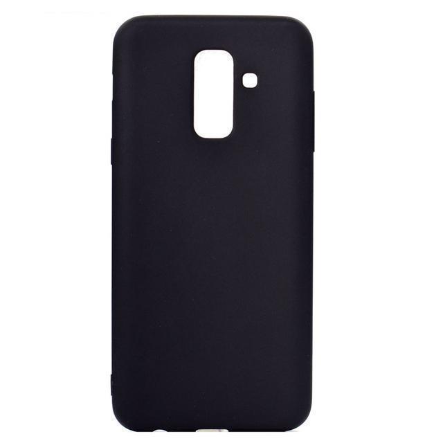 Чехол-накладка для Samsung Galaxy A6 (2018) SM-A600 силикон (черный)