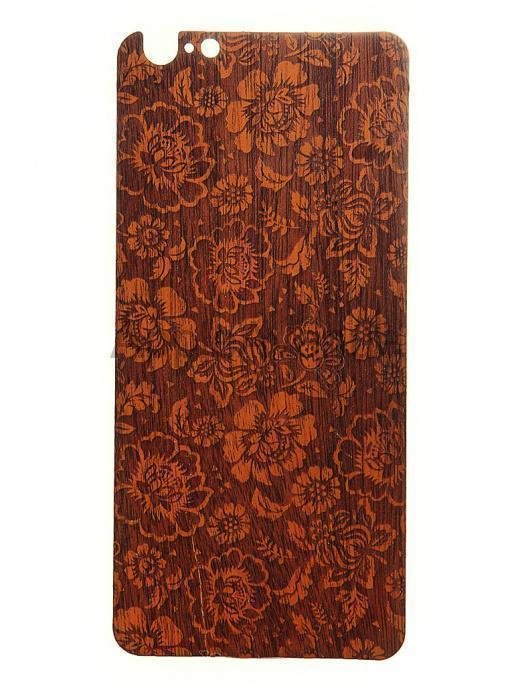 Задняя наклейка Vanitist Flower Pattern для Apple iPhone 6/6S светло-коричневое дерево