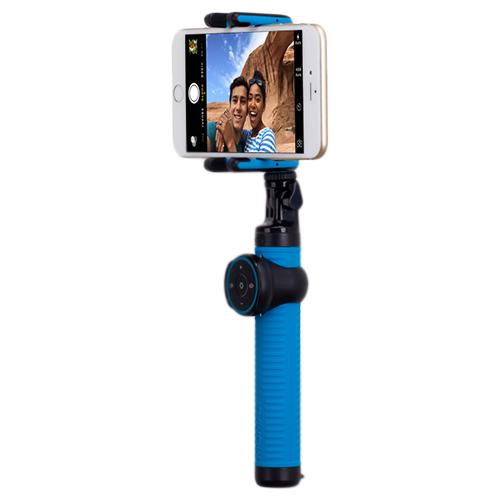 Купить со скидкой Монопод для смартфона Momax Selfi Hero KMS7 Bluetooth (+ трипод) от 28см до 100см вес 250гр blue