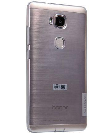 Чехол-накладка Nillkin Nature 0.6mm для Huawei Honor 5X силиконовый прозрачно-черныйдля Huawei<br>Чехол-накладка Nillkin Nature 0.6mm для Huawei Honor 5X силиконовый прозрачно-черный<br>