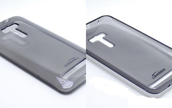 Чехол-накладка Jekod/KissWil для Asus Zenfone Selfi ZD551KL силиконовый матовый (прозрачно-черный) фото