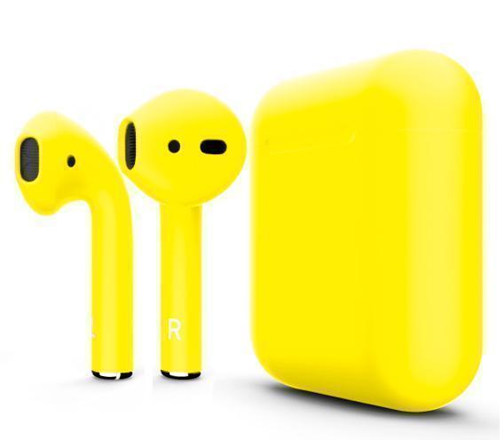 Купить Беспроводные Bluetooth cтерео-наушники Apple AirPods Matte Yellow