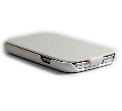 Чехол-книжка Pcaro для Samsung Galaxy S3 i9300 натуральная кожа (белый) фото