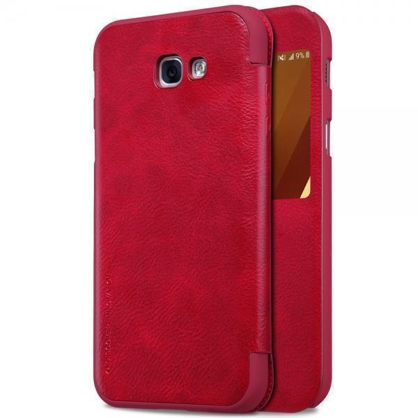 Чехол-книжка Nillkin QIN Leather Case для Samsung Galaxy A3 (2017) SM-A320F натуральная кожа Redдля Samsung<br>Чехол-книжка Nillkin QIN Leather Case для Samsung Galaxy A3 (2017) SM-A320F натуральная кожа Red<br>