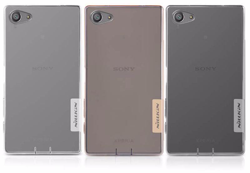 Чехол-накладка Nillkin Nature для Sony Xperia Z5 Compact силиконовый прозрачно-золотойдля Sony<br>Чехол-накладка Nillkin Nature для Sony Xperia Z5 Compact силиконовый прозрачно-золотой<br>