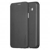 Купить Чехол-книжка Pipilu FIBcolor X-Level для Samsung Galaxy S6 Edge искусственная кожа/силикон (черный)