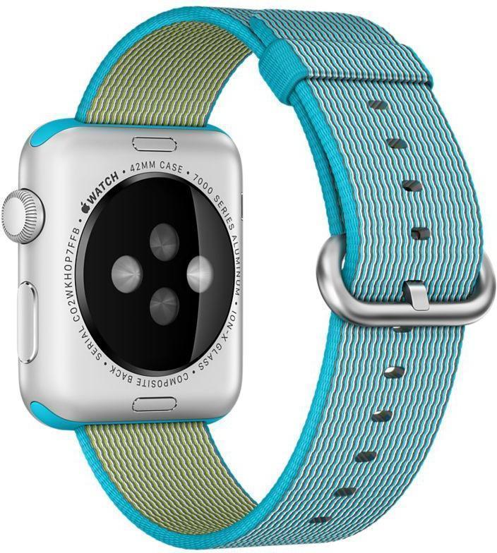 Купить со скидкой Ремешок Apple для Watch 42mm Woven Nylon (Scuba Blue) MM9X2ZM/A