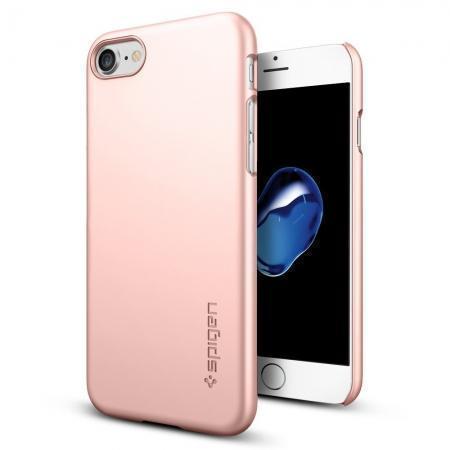 Чехол-накладка Spigen Thin Fit для Apple iPhone 7/8 пластик Rose Gold (SGP 042CS20429)для iPhone 7/8<br>Чехол-накладка Spigen Thin Fit для Apple iPhone 7/8 пластик Rose Gold (SGP 042CS20429)<br>