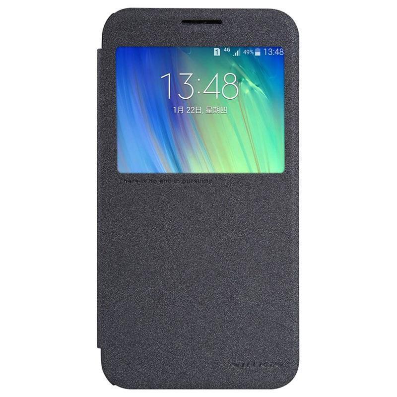 Чехол-книжка Nillkin Sparkle Series для Samsung Galaxy E7 SM-E700 пластик-полиуретан черный