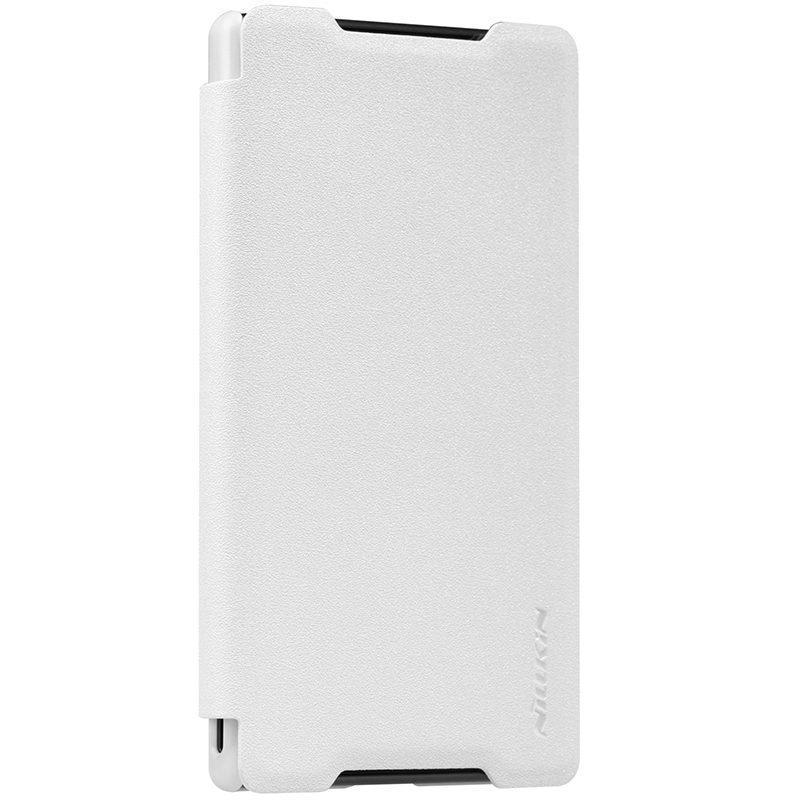 Чехол-книжка Nillkin Sparkle Series для Sony Xperia Z5 Compact пластик-полиуретан (белый)для Sony<br>Чехол-книжка Nillkin Sparkle Series для Sony Xperia Z5 Compact пластик-полиуретан (белый)<br>