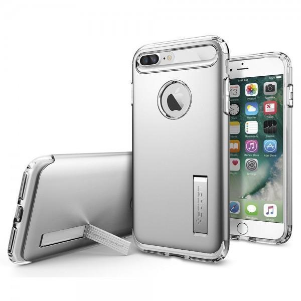 Чехол-накладка Spigen Slim Armor для Apple iPhone 7 Plus/8 Plus Серебристый SGP 043CS20313для iPhone 7 Plus/8 Plus<br>Чехол-накладка Spigen Slim Armor для Apple iPhone 7 Plus/8 Plus Серебристый SGP 043CS20313<br>