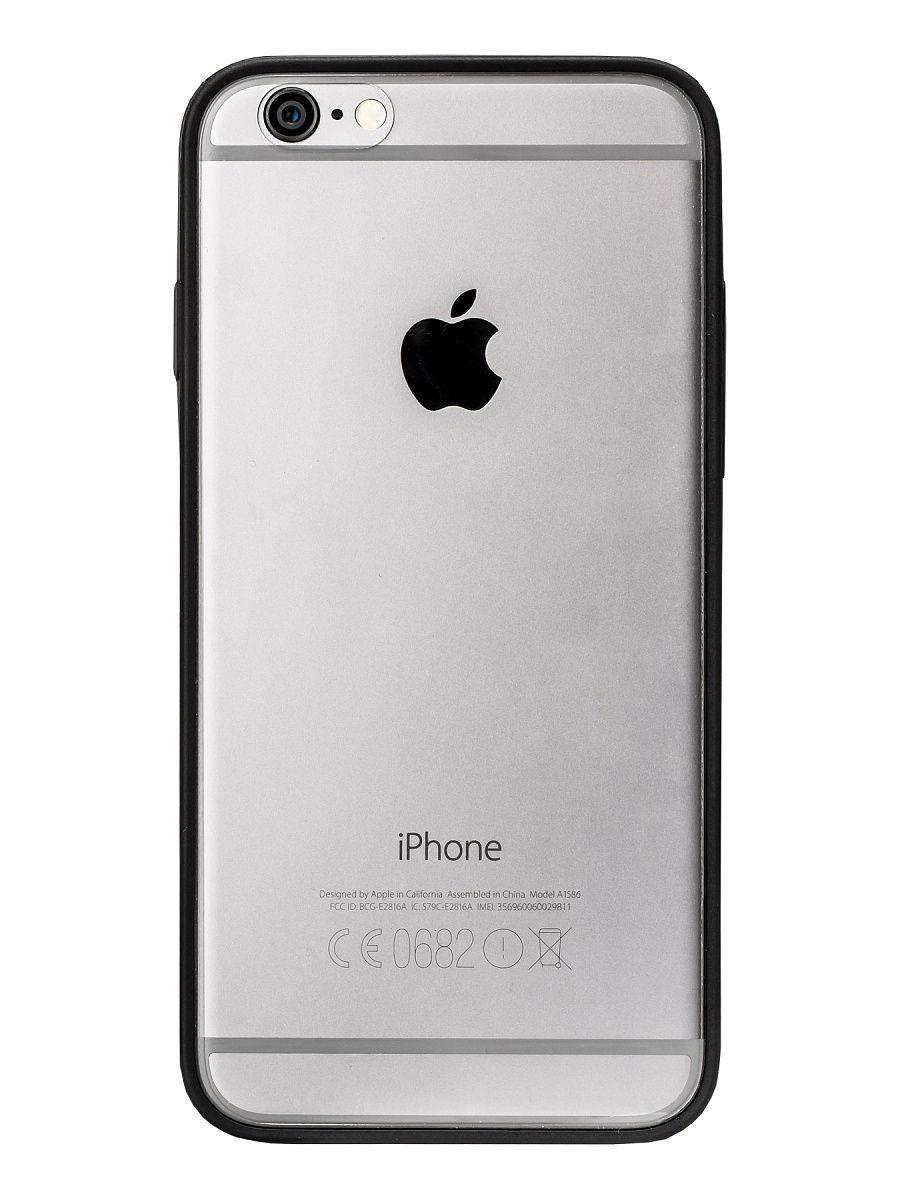 Чехол-бампер для Apple iPhone 6/6S пластиковый черныйдля iPhone 6/6S<br>Чехол-бампер для Apple iPhone 6/6S пластиковый черный<br>