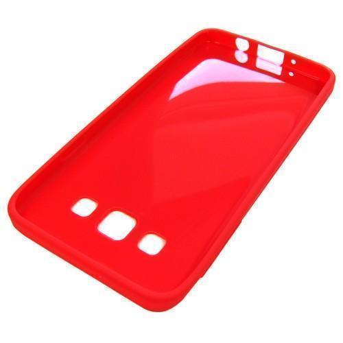 Чехол-накладка для Samsung Galaxy A3 SM-A300 силикон пластик (прозрачно-красный) фото