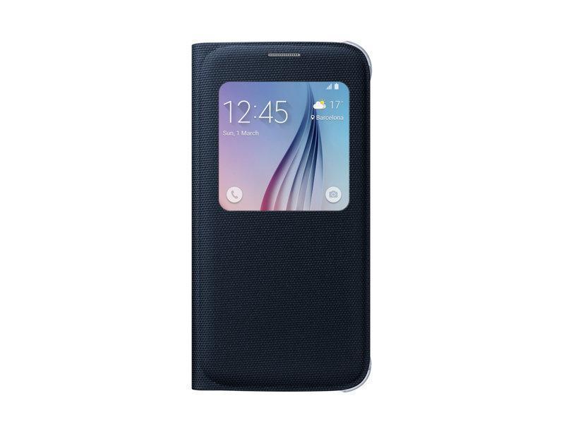 Чехол-книжка Samsung S-View Cover Fabric для Galaxy S6 полиуретан, ткань черный (EF-CG920BBEGRU)для Samsung<br>Чехол-книжка Samsung S-View Cover Fabric для Galaxy S6 полиуретан, ткань черный (EF-CG920BBEGRU)<br>