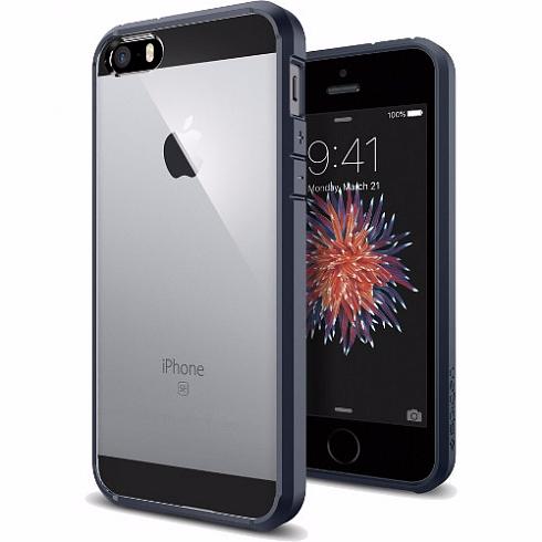 Чехол-накладка Spigen Ultra Hybrid для Apple iPhone SE/5S/5 Metal Slate (SGP 041CS20248)