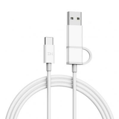 Купить Кабель 2 в 1 Xiaomi ZMI USB/Type-C/Type-C 100 см (AL311) белый