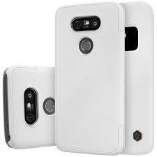Чехол-книжка Nillkin Sparkle Series для LG G5 / G5 SE (H845/H850/H860N) пластик-полиуретан (белый)