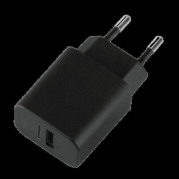 Сетевое зарядное устройство Deppa (11377) 3.4А (USB) + (Type-C) черныйСетевые зарядные устройства для смартфонов/планшетов<br>Сетевое зарядное устройство Deppa (11377) 3.4А (USB) + (Type-C) черный<br>