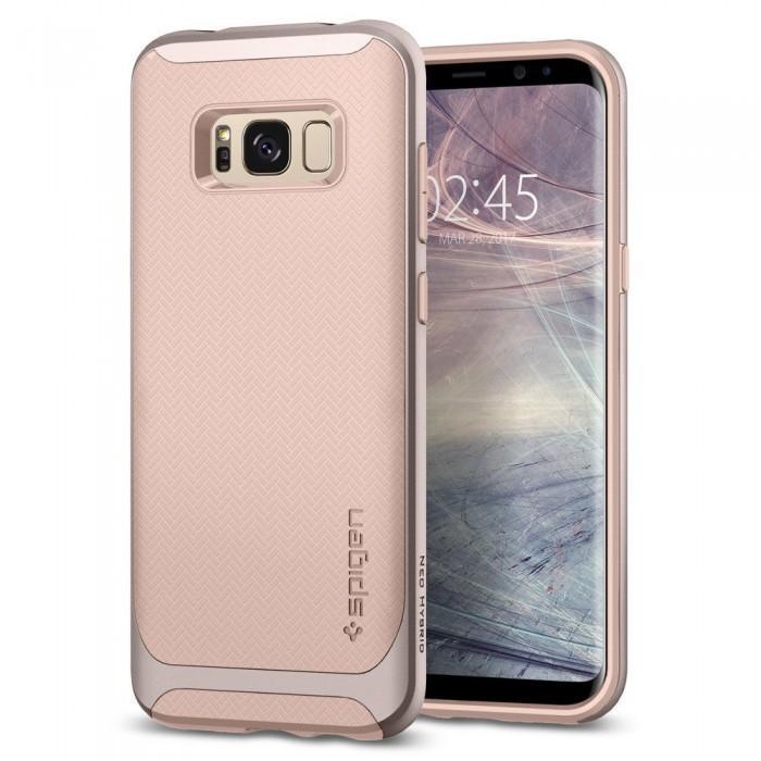 Чехол-накладка Spigen Neo Hybrid для Samsung Galaxy S8 светло-розовый (SGP 565CS21601)для Samsung<br>Чехол-накладка Spigen Neo Hybrid для Samsung Galaxy S8 светло-розовый (SGP 565CS21601)<br>