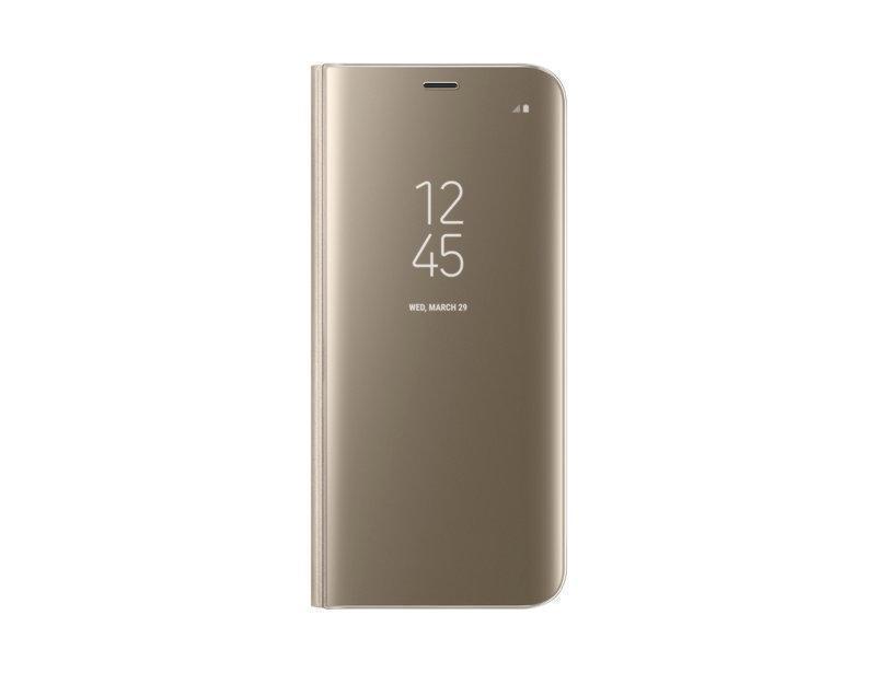 Чехол-книжка Samsung Clear View Standing Cover для Galaxy S8+ поликарбонат прозрачно-золотойдля Samsung<br>Чехол-книжка Samsung Clear View Standing Cover для Galaxy S8+ поликарбонат прозрачно-золотой<br>