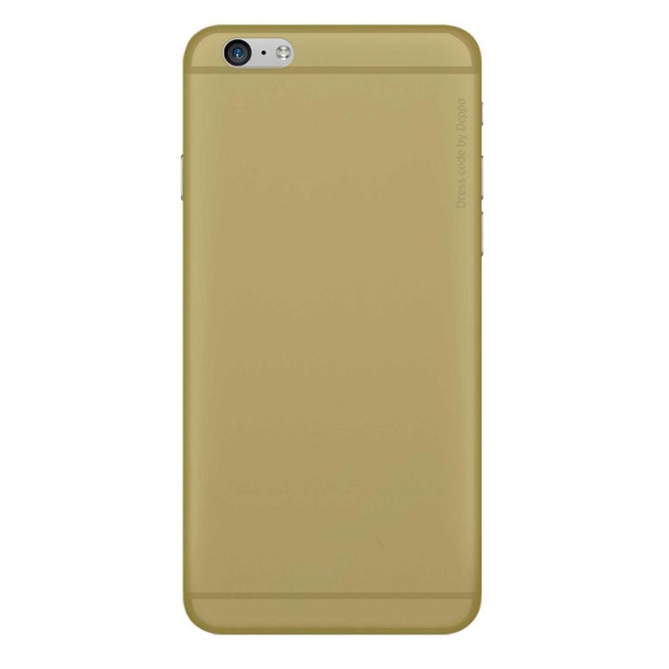 Чехол-накладка Deppa Sky Case 0.4mm для Apple iPhone 6/6S пластиковый золотой + защитная пленкадля iPhone 6/6S<br>Чехол-накладка Deppa Sky Case 0.4mm для Apple iPhone 6/6S пластиковый золотой + защитная пленка<br>