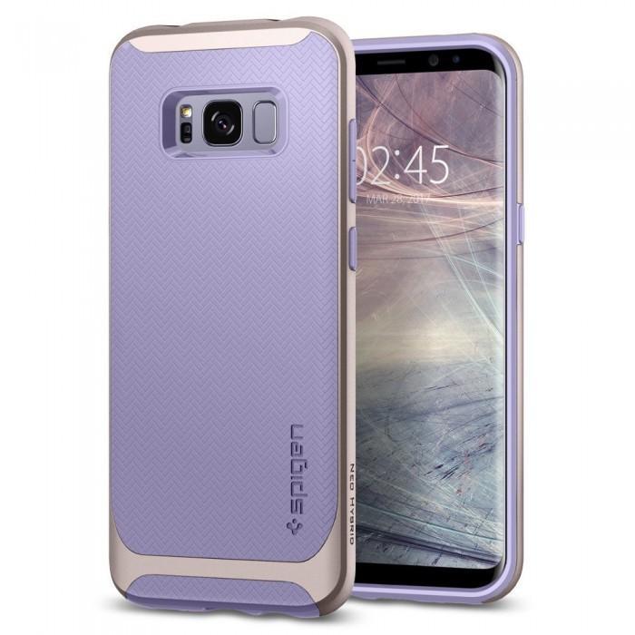 Чехол-накладка Spigen Neo Hybrid для Samsung Galaxy S8 фиолетовый (SGP 565CS21596)для Samsung<br>Чехол-накладка Spigen Neo Hybrid для Samsung Galaxy S8 фиолетовый (SGP 565CS21596)<br>