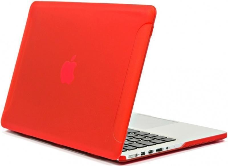 Чехол-накладка BTA-Workshop для Apple MacBook Pro Retina 15 матовая прозрачно-краснаядля Apple MacBook Pro 15 with Retina display<br>Чехол-накладка BTA-Workshop для Apple MacBook Pro Retina 15 матовая прозрачно-красная<br>