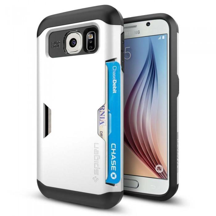 Чехол-накладка Spigen Slim Armor CS SGP11333 для Samsung Galaxy S6 резина, пластик (белый)для Samsung<br>Чехол-накладка Spigen Slim Armor CS SGP11333 для Samsung Galaxy S6 резина, пластик (белый)<br>