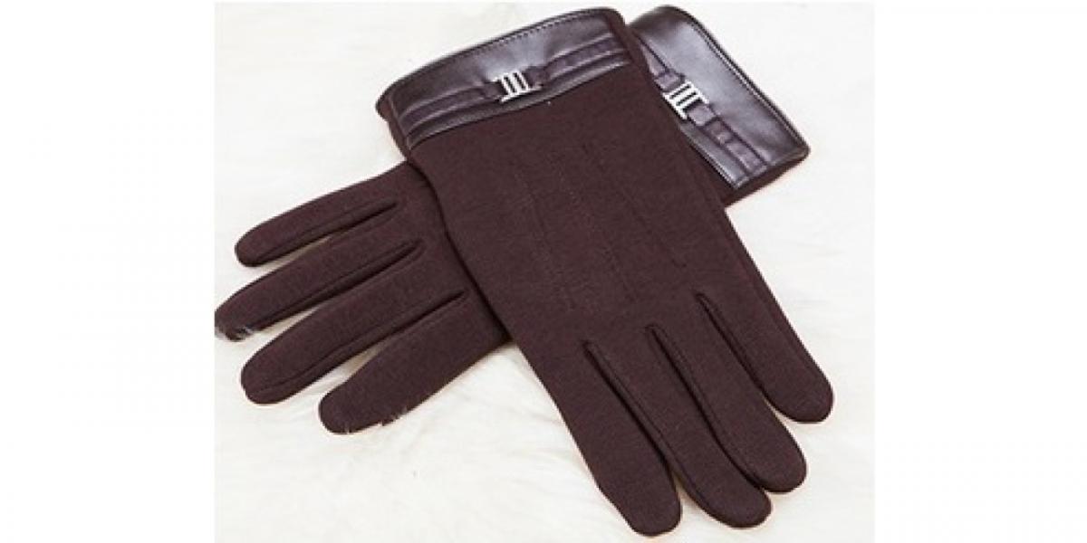 Перчатки для смартфона iCasemore кашемировые с пряжкой коричневые