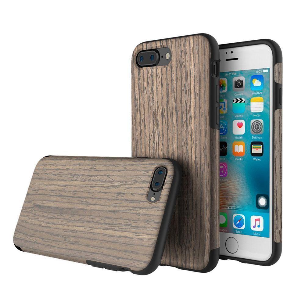 Чехол-накладка Rock Origin Series Wood для Apple iPhone 7 Plus/8 Plus резина под дерево Black roseдля iPhone 7 Plus/8 Plus<br>Чехол-накладка Rock Origin Series Wood для Apple iPhone 7 Plus/8 Plus резина под дерево Black rose<br>