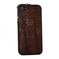 Задняя наклейка Vanitist Flower Pattern для Apple iPhone 6/6S темно-коричневое дерево