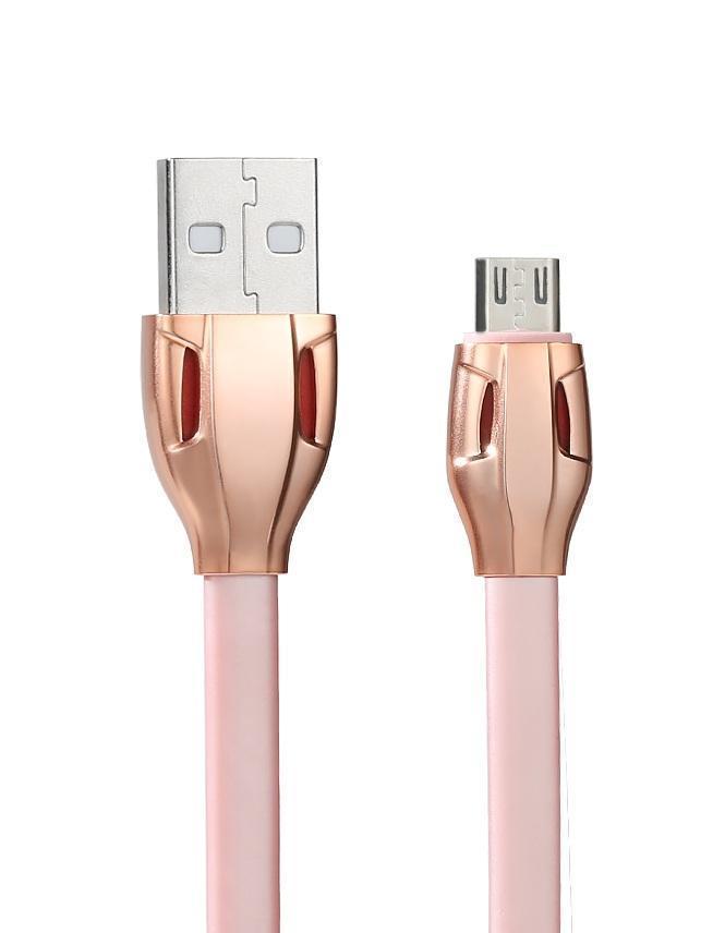 """Data кабель USB """"Remax Laser"""" RC-035i для iPhone 5/6 розовый, 100см"""