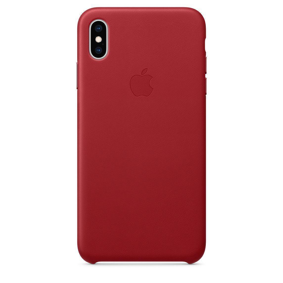 Купить Чехол-накладка Apple Leather Case для iPhone XS Max Red (MRWQ2ZM/A)