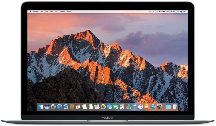 Apple MacBook 12 Space Gray (MLH72)MacBook <br>Ноутбук Apple MacBook Early 2016 (Intel Core m3 1100 MHz/12.0/2304x1440/8.0Gb/256Gb SSD/DVD нет/Intel HD Graphics 515/Wi-Fi/Bluetooth/MacOS X)<br>